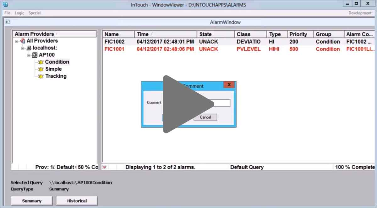 Link zum Video Tutorial Alammanagement mit OPC AE